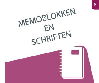 Bekijk hoofdstuk 5 Memoblokken en schriften