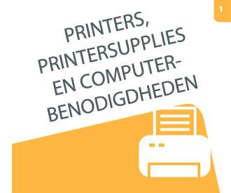 Bekijk hoofdstuk 1 Printers, printersupplies en comptuterbenodigdheden
